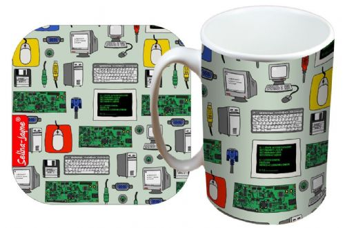 Selina-Jayne IT Worker Limited Edition Designer Mug and Coaster Set